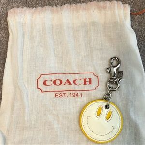 NWOT Coach Smiley Keychain